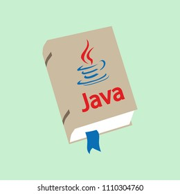 Icon of books about programming. A book on the Java programming language.