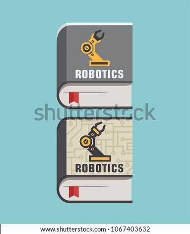 Icon Books About Technology Mechanical Engineering Stock Vector