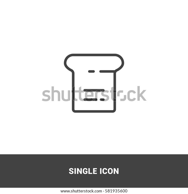 Icon bread Single Icon Graphic Design