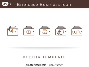 Icon Briefcase Business For Website, Infographic Element. Vector Illustration