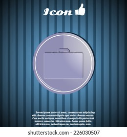 Icon briefcase on the background. Made in vector