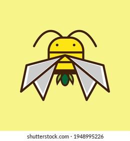 icon bumblebee. logo bee vector