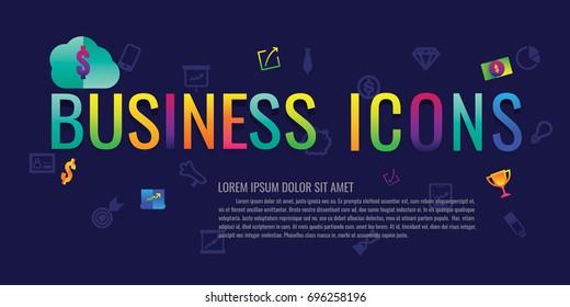 icon. business. e-commerce. money. success. teamwork. finance. Marketing. modern design. vector illustration colorful on blue background. logo. symbol