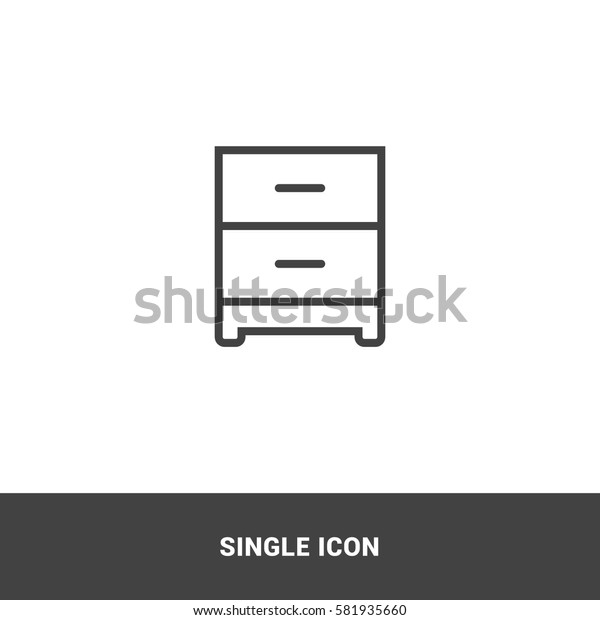 Icon cabinet paper Single Icon Graphic Design