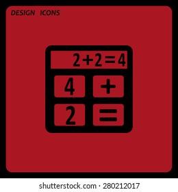 icon calculator. icon. vector design. Flat design style
