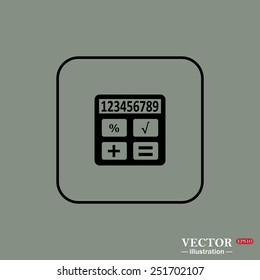 icon calculator, vector illustration, EPS 10