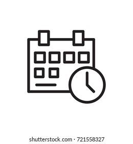 icon calendar clock