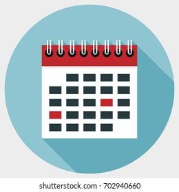Icon calendar flat style