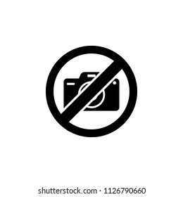 The icon of Camera ban, prohibition, embargo, forbiddance. Simple flat icon illustration, vector of Camera ban, prohibition, embargo, forbiddance for a website or mobile application