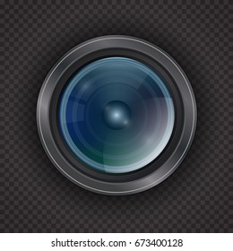 Icon for the camera lens. Isolated on a transparent background.