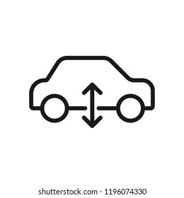 Icon for car air suspension-warning dashboard sign. DTC code failure