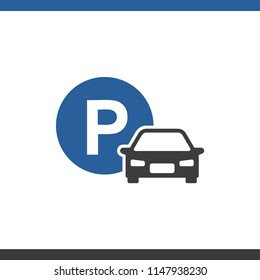 Icon car parking isolated on white background vector illustration
