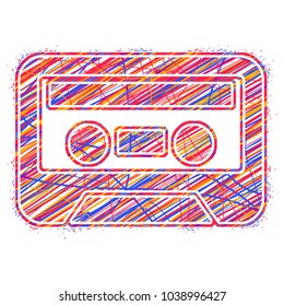 the icon is cassette. abstract colorful vector