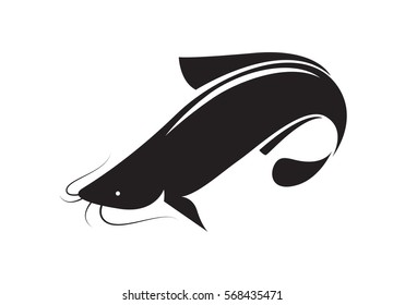 icon catfish, vector