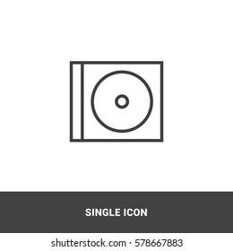 Icon cd Single Icon Graphic Design