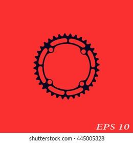 Icon of chainwheel.