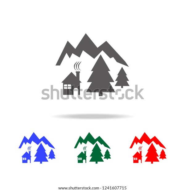 Christmas Holidays Icon.Icon Chalets Mountain Holidays Icon Elements Stock Vector