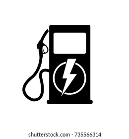 Icon charging stations of electric cars. Vector illustration.