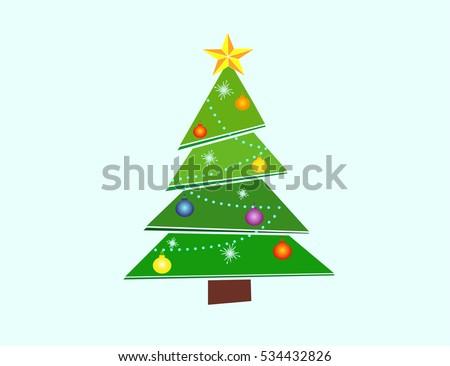 Icon Christmas Tree Vector Stock Vector Royalty Free 534432826