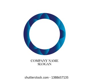 Icon, circle company logo design - Vector