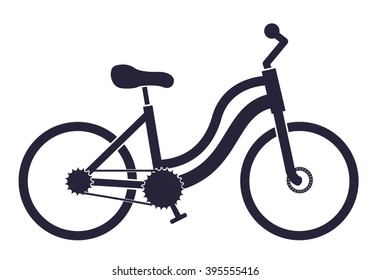 Icon of the city bike on a white background.  Flat icon vector bicycle. Isolated object bicycle. Cyclists symbol.