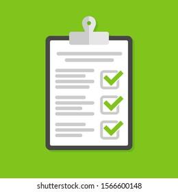 Icon clipboard checklist vector icon