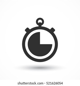 icon clock time vector