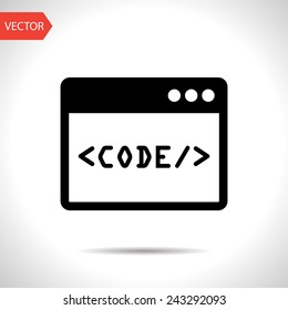 icon of code window