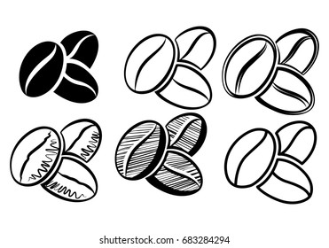 icon coffee beans