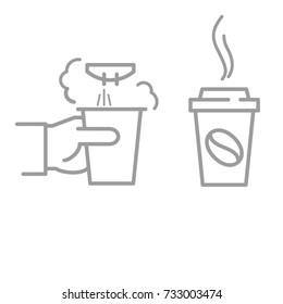 icon coffee making