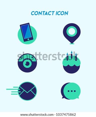 38e4faa750 Icon Collection Contact Interests Stock Vector (Royalty Free ...