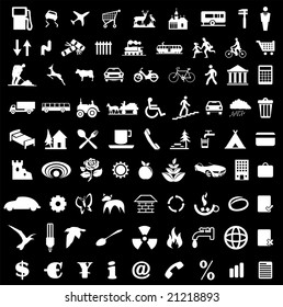 Icon collection for various designs