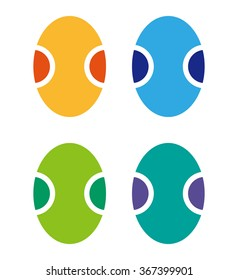 icon of a color ellipse in the form of egg