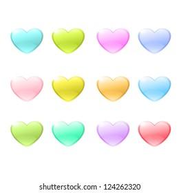 Icon of colorful hearts. Vector design.