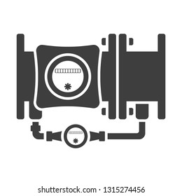 Icon combined water meter. Vector on white background