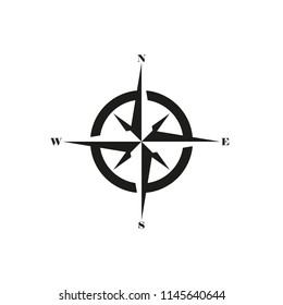 The icon of the compass. Simple vector illustration.