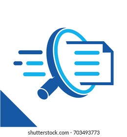 Icon conceptual illustration to search for documents quickly, related to the business of digital document management services.