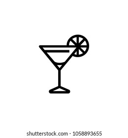 Icon of cosmopolitan cocktail. Beverage, liquor, bar. Alcohol drink concept. Can be used for topics like party, celebration, nightlife