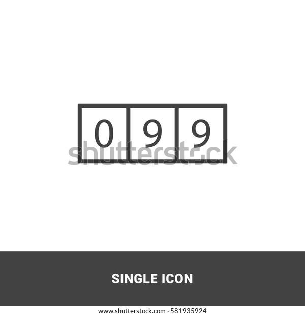 Icon counter Single Icon Graphic Design
