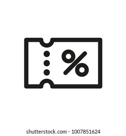 Icon coupon. Vector illustration.