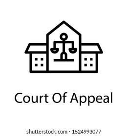 Icon of court appeal in line design