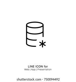 Icon create database graphic design single icon vector