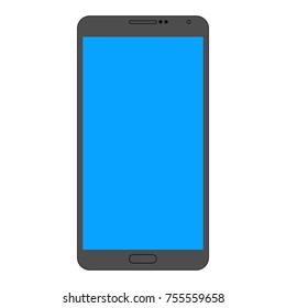 Icon dark gray smartphone