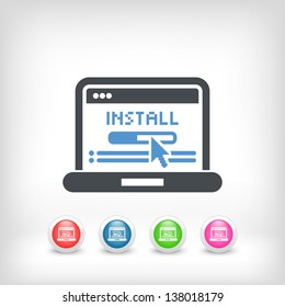 Icon depicting a software installation on pc
