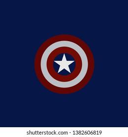 Icon Design Captain America Shield