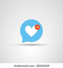 Icon Design - I Love You - Valentine's Day Design Concept