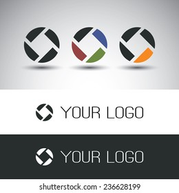 Icon Design Set with Different Colors