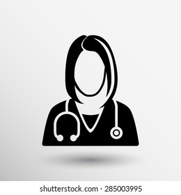 icon doctor closeup medical graphic design vector illustration.