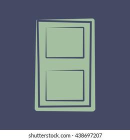 Icon of Door. Eps-10.