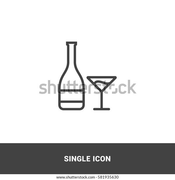 Icon drink bottle Single Icon Graphic Design